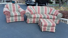 Sofa and Matching Chair w/Ottoman in Wheaton, Illinois
