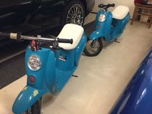 REDUCED (2) Razor Pocket Mod 24-Volt Electric Scooters Chrissy Turquoise, including 2 helmets in Conroe, Texas