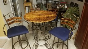 Pub height table and chairs in Camp Lejeune, North Carolina
