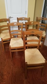 Set of 6 Wood/Wicker Chairs in Camp Lejeune, North Carolina