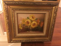Floral Oil Painting by B.Ferber with Certificate in Houston, Texas