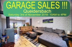 GARAGE SALES in Queidersbach | 3rd of November 2018 | 10AM to 4PM in Ramstein, Germany