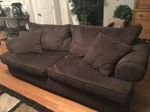 Chocolate Brown Corduroy Couch, Chair & Ottomon in Nashville, Tennessee
