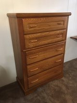 Chest of Drawers (Oak), Five Drawer in The Woodlands, Texas