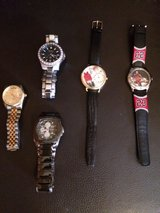 WATCHES, 2 MJ COLLECTABLES in Tinley Park, Illinois