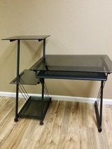 Black Tempered Glass Desk in Oklahoma City, Oklahoma