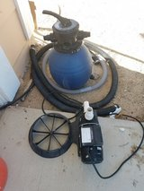 Sand pool filter in 29 Palms, California