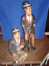 Laurel&Hardy figurines, with cycle in Las Vegas, Nevada