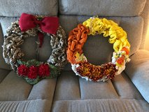 Burlap wreaths in Fort Rucker, Alabama