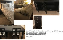 Variety of furniture in good condition at low price in Temecula, California