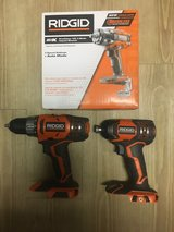Ridgid drill, impact driver and 1/2 impact wrench in Honolulu, Hawaii
