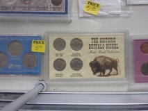 Buffalo Nickel Mint Mark Coin Set in Fort Riley, Kansas