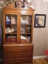 handsome vintage carved wood china cabinet in Westmont, Illinois