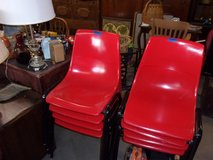 Set of Eight Retro Stackable Chairs in Fort Riley, Kansas