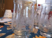 sett of 5 etched glasses in Alamogordo, New Mexico