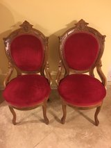 Victorian Round Back Upholstered Parlor Chairs- Solid VGC in West Orange, New Jersey