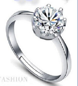 Elegant Silver Zircon Crystal Crown Ring Adjustable Finger Ring/Nail/Toe Ring for Women,Girls: in Fairfax, Virginia
