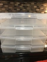 STACKABLE PLASTIC STORAGE BINS (2) in Pasadena, Texas