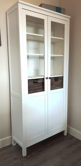 Display Cabinet / Bookcase White *Like New in CyFair, Texas