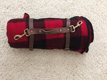 Blanket - Wool w/ Carrying Straps, Red & Black Plaid; Marlboro Country Store in Cherry Point, North Carolina