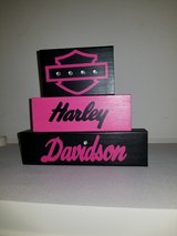 Harley Davidson wood stackable blocks in Lawton, Oklahoma