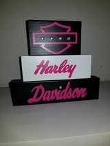 Harley Davidson stackable wood blocks in Lawton, Oklahoma