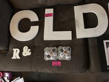 Misc stuff.  Magnets wood letters. in Plainfield, Illinois