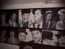 different black and white acryl paintings in Ramstein, Germany