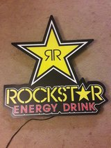 Rockstar energy drink sign in Hinesville, Georgia