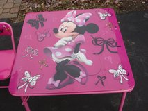 MIINNIE MOUSE  KIDS FOLDING TABLE & CHAIRS in Batavia, Illinois