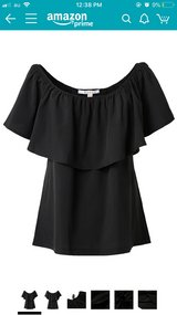 Women's off the shoulder black blouse - NWT in Okinawa, Japan