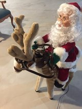 Electric moving reindeer with Santa in Naperville, Illinois