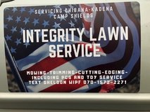 Integrity Lawn Care services in Okinawa, Japan
