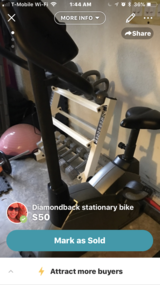 Stationary bike in Vacaville, California