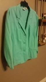 Women's 24W Merona Aqua Blazer 3 Button Cute Career Jacket in Fort Leonard Wood, Missouri