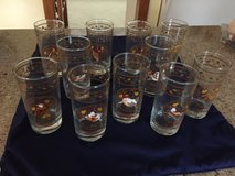 """Anchor Hocking 12 Days of Christmas Beverage Glasses - Set of 11; 5.5"""" Tall in Cherry Point, North Carolina"""