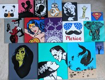 Hand Painted Custom Acrylic Paintings in Camp Pendleton, California