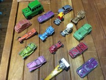 Vintage metal cars and trucks in Fort Campbell, Kentucky
