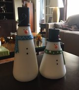 Snowman Candle Pair in Wheaton, Illinois
