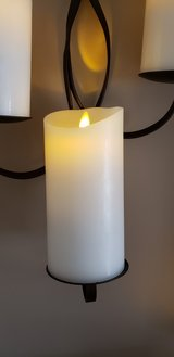 """Set of four 7 inch high Ivory """"Luminara"""" flameless candles in Plainfield, Illinois"""
