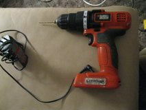 Cordless Drill, Black and Decker 10V and 60 screwdriver bits and drill bits. in Lawton, Oklahoma