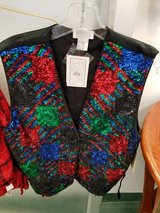 NOS Sequin vest new with tags Sz Lg Connie Sellecca in Naperville, Illinois