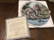 Asian Elephants Collectors Plate in Yorkville, Illinois