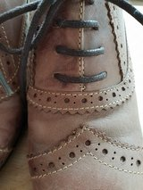 Cute Dress Shoes size 5 Leather Washed out look brown Like new in CyFair, Texas