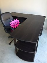 Desk and chair in Camp Pendleton, California