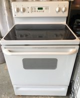 GE glass top electric range, 4 burner. Works perfectly! in Sugar Grove, Illinois