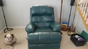 Leather recliner in Oswego, Illinois
