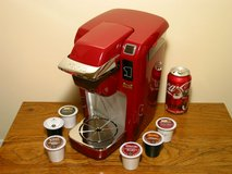 Super-clean Keurig B31 Automatic K-Cup Coffee Maker Red in Bartlett, Illinois