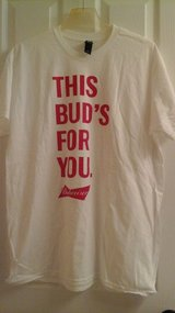 Men's XL Bud/Budweiser Beer (NEW)  T Shirt in Batavia, Illinois