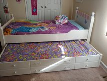 Girls twin bed with trundle includes nightstand and dresser with hutch in Fort Knox, Kentucky